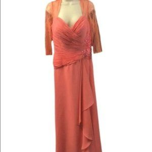 Serena London Coral Mother of the Bride Dress NWT